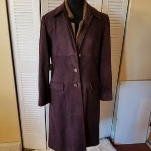 Ellen Tracy  Suede Coat  Size 12